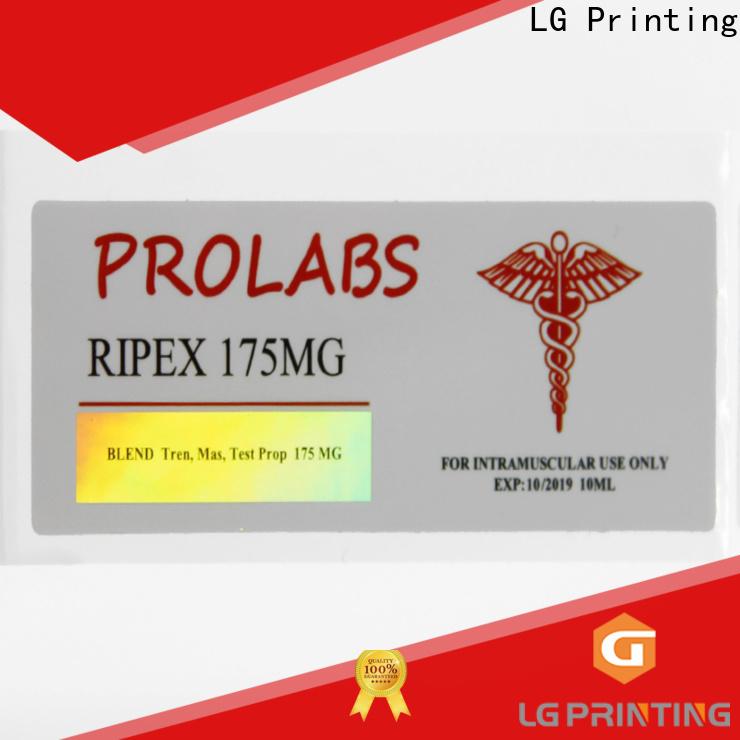 LG Printing High-quality holographic seal company