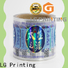 LG Printing Quality holographic sticker paper vendor for bottle package
