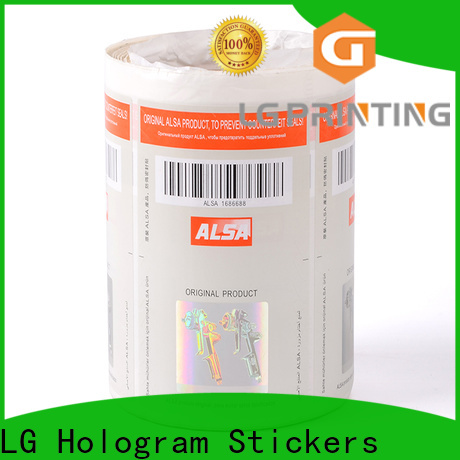 Best custom security stickers stamping for goods