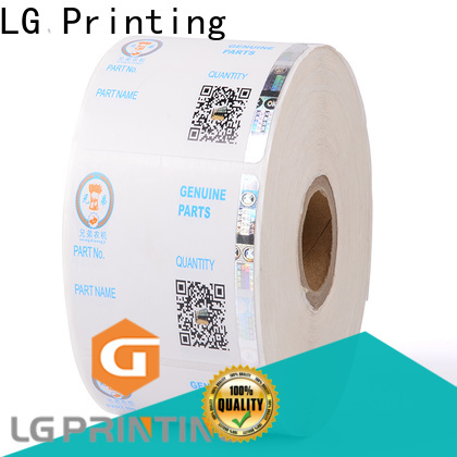 LG Printing 122 security company stickers manufacturers for box