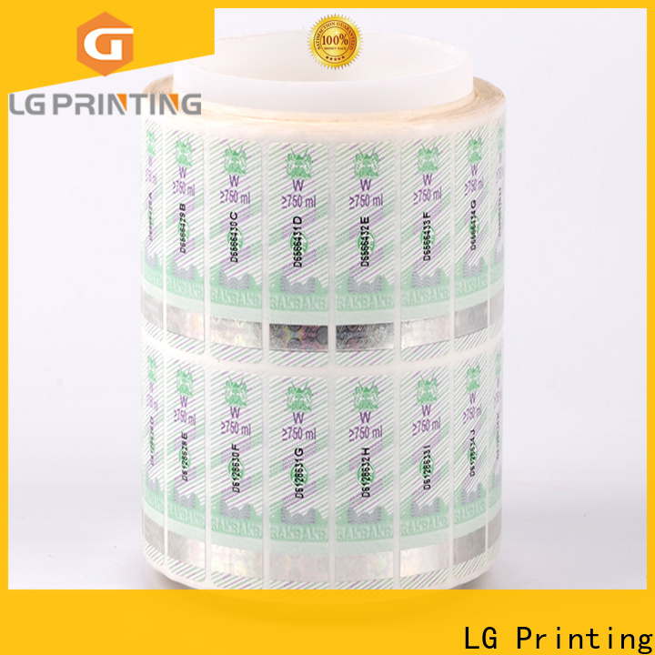 LG Printing silver hologram stickers uk factory for products