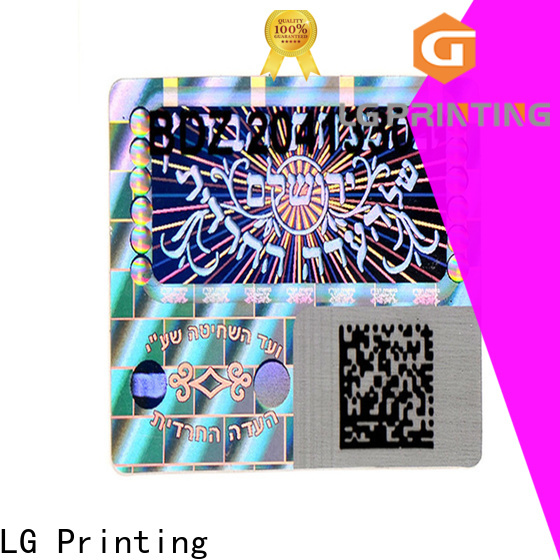 LG Printing Custom print your own hologram stickers price for door
