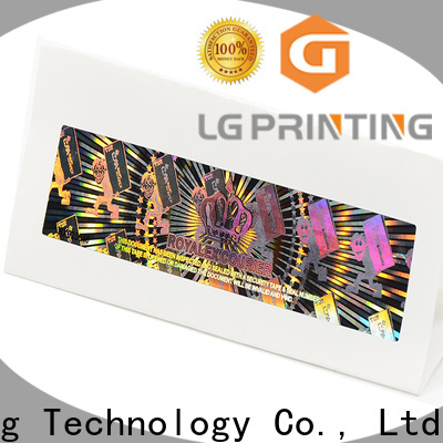 LG Printing gold security void stickers wholesale for table