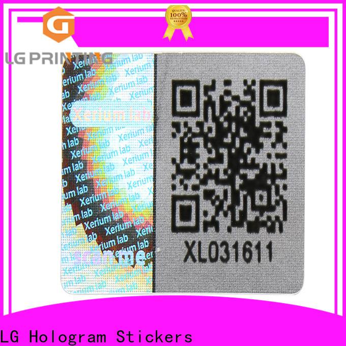 LG Printing scratch off security hologram manufacturers for refrigerator