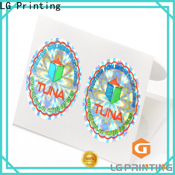 LG Printing Custom hologram stickers china for door