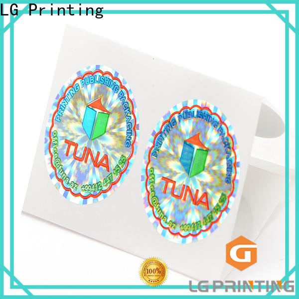 LG Printing Custom hologram stickers china for door