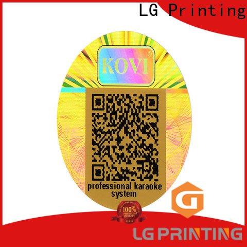 LG Printing silver serial number stickers supplier cost for refrigerator