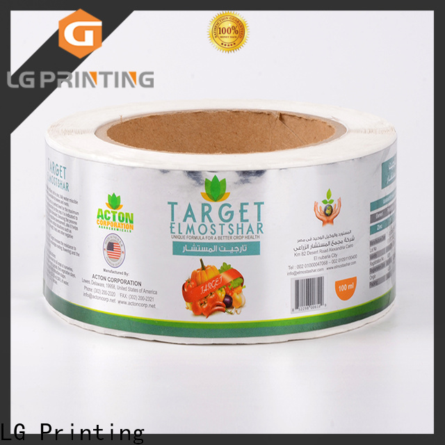 LG Printing pvc business water bottle labels factory for bottle