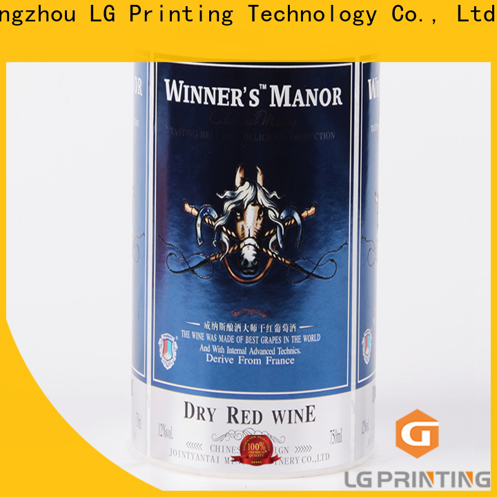 Quality personalised spirit bottle labels foil price for cans