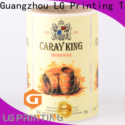 LG Printing Custom made custom sticker printing company for cans