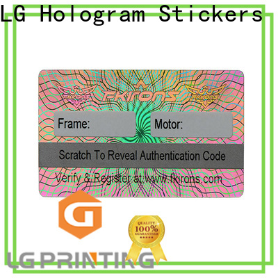 Quality custom printed hologram stickers printing for table