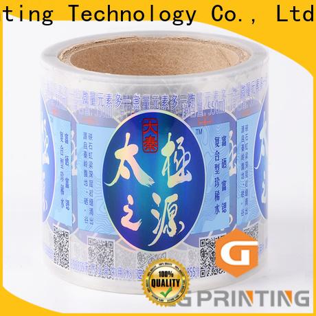 LG Printing Custom made vinyl labels for roller bottles factory price for wine bottle