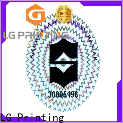 LG Printing sticker making hologram stickers factory price for door
