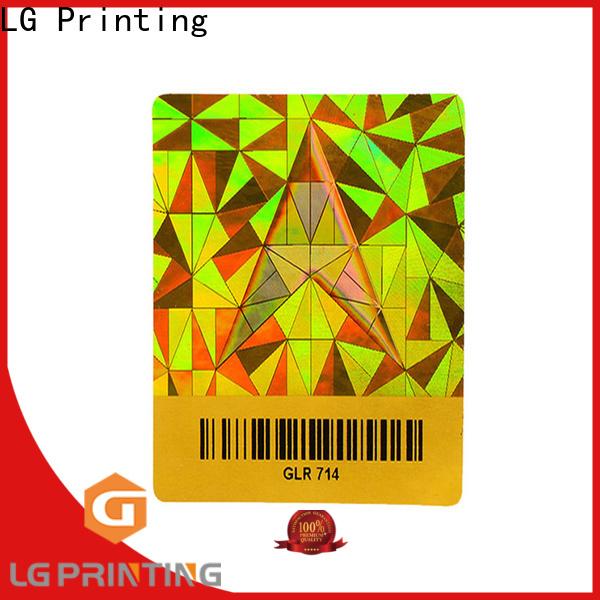 LG Printing selfadhesive custom logo hologram stickers factory for door