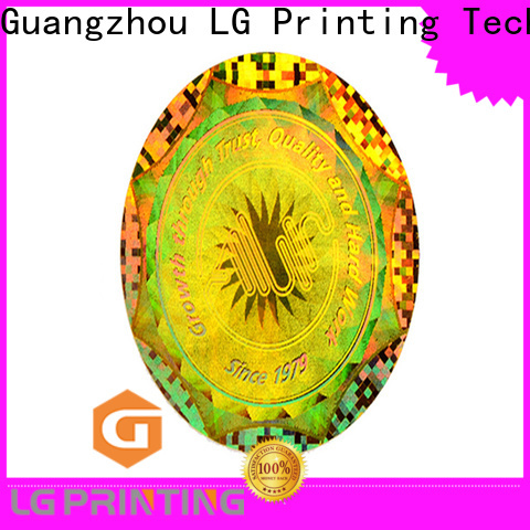 Professional holographic sticker custom number factory for door