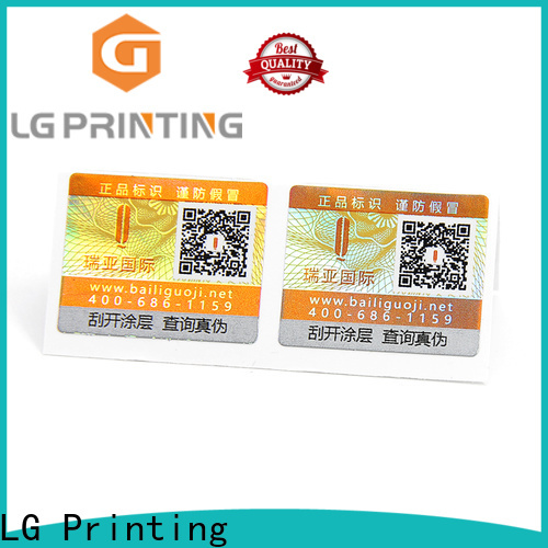 LG Printing custom sticker labels for jars