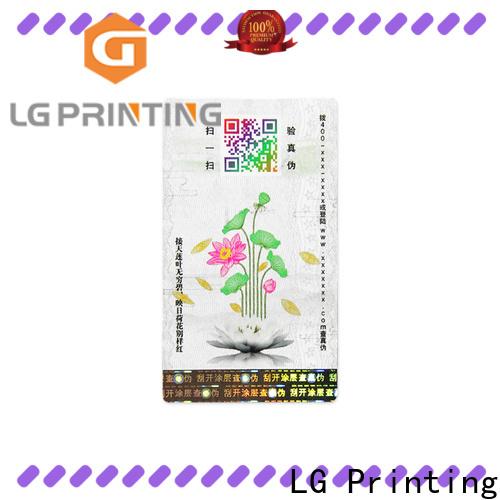 LG Printing Custom hologram security labels price