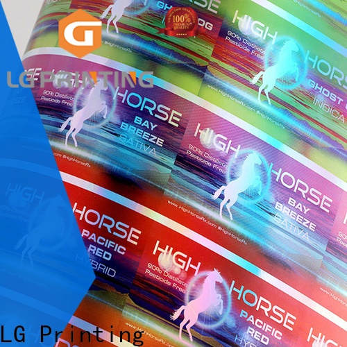 LG Printing Buy holographic label printing for package