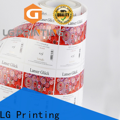 LG Printing foil labels self adhesive wholesale for bottle