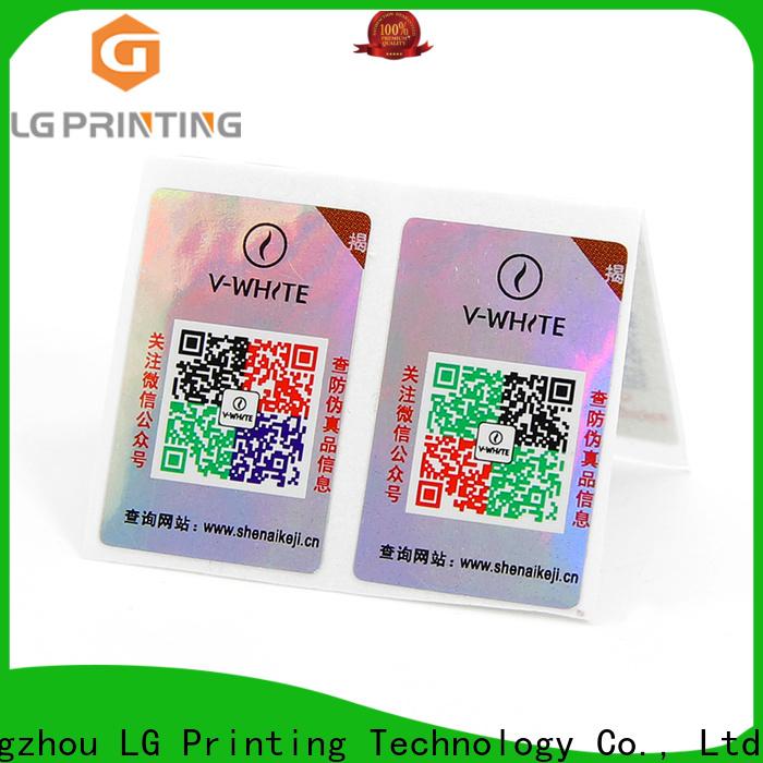 LG Printing tamper evident seal manufacturers for goods