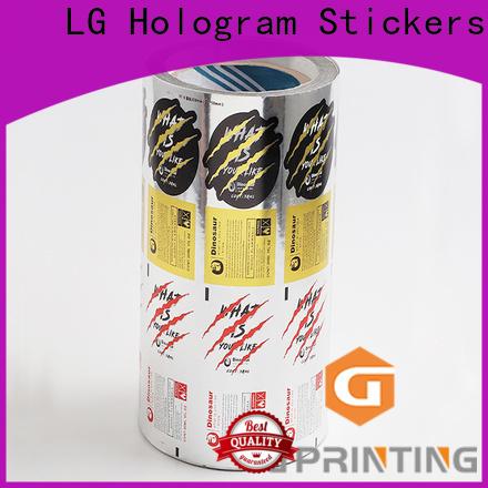 Professional plastic stickers manufacturers bopp vendor for wine bottle