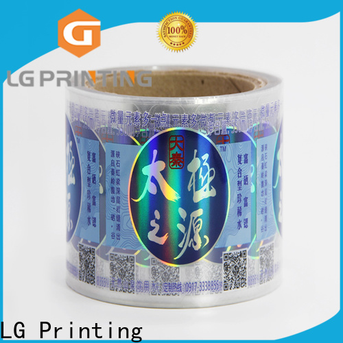 LG Printing Best holographic sticker labels price for bottle package