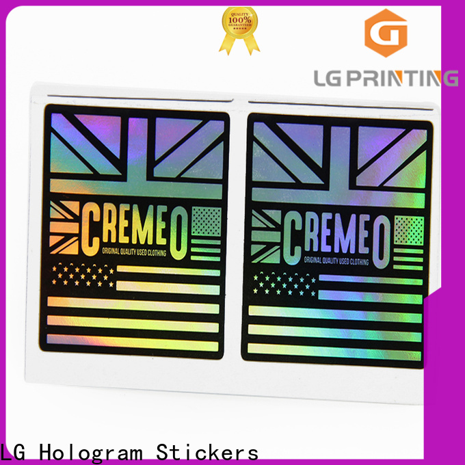 Buy custom holographic labels factory for bottle package