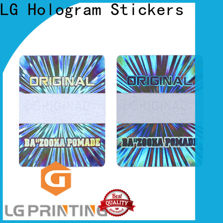 LG Printing clear hologram sticker supply for garment hangtag