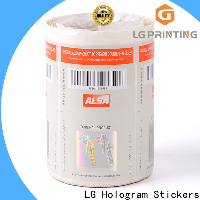 LG Printing security hologram stickers online factory for goods