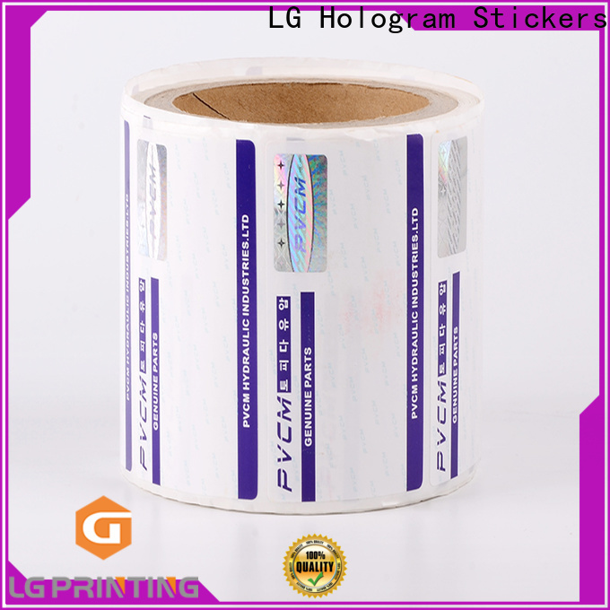LG Printing serial security seal stickers for goods