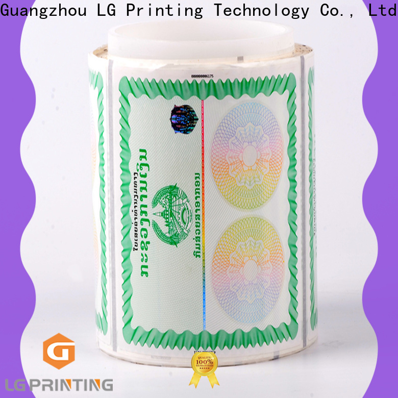 LG Printing 122 custom hologram stickers wholesale for products