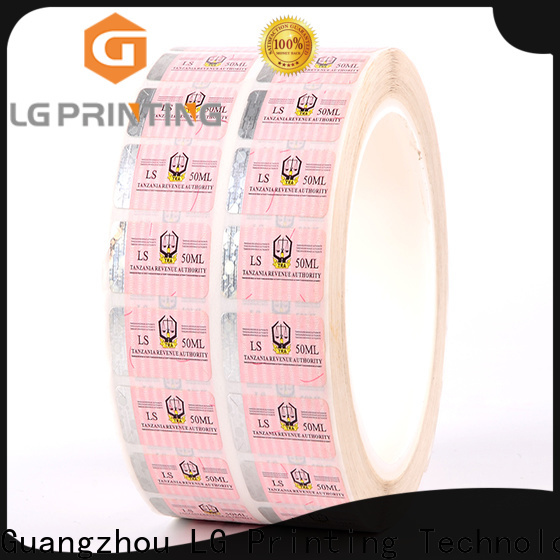 LG Printing hologram custom security labels for box