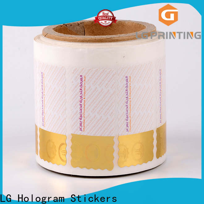 LG Printing number custom made hologram stickers manufacturers for products
