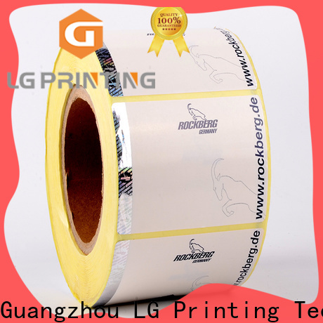 LG Printing High-quality hologram sticker supplier factory for bag