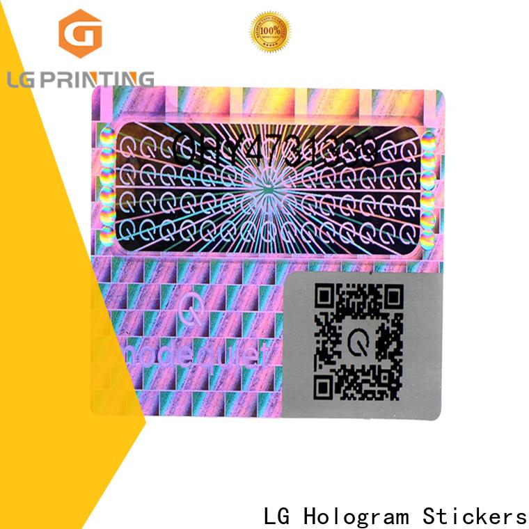 LG Printing golden visa card hologram sticker supply for cosmetics