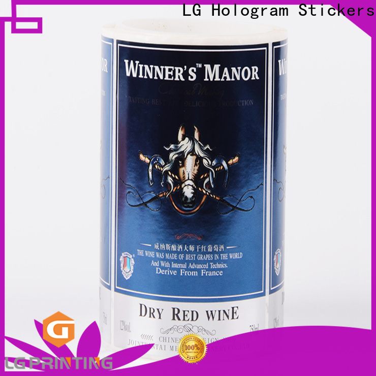 LG Printing Quality label company suppliers for wine bottle