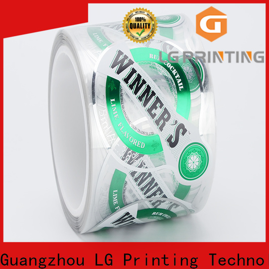 LG Printing red packaging law supply for jars