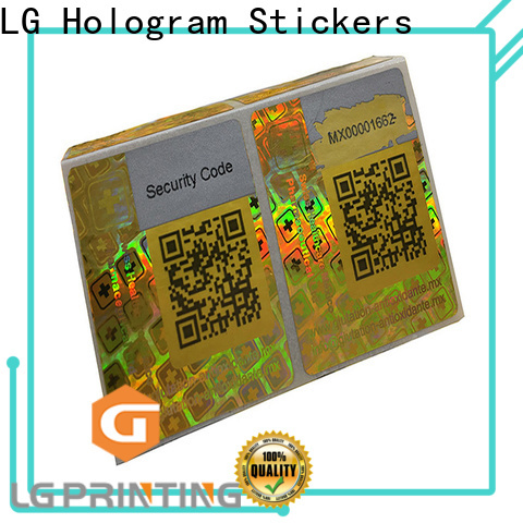 LG Printing Customized custom made hologram stickers cost for cosmetics