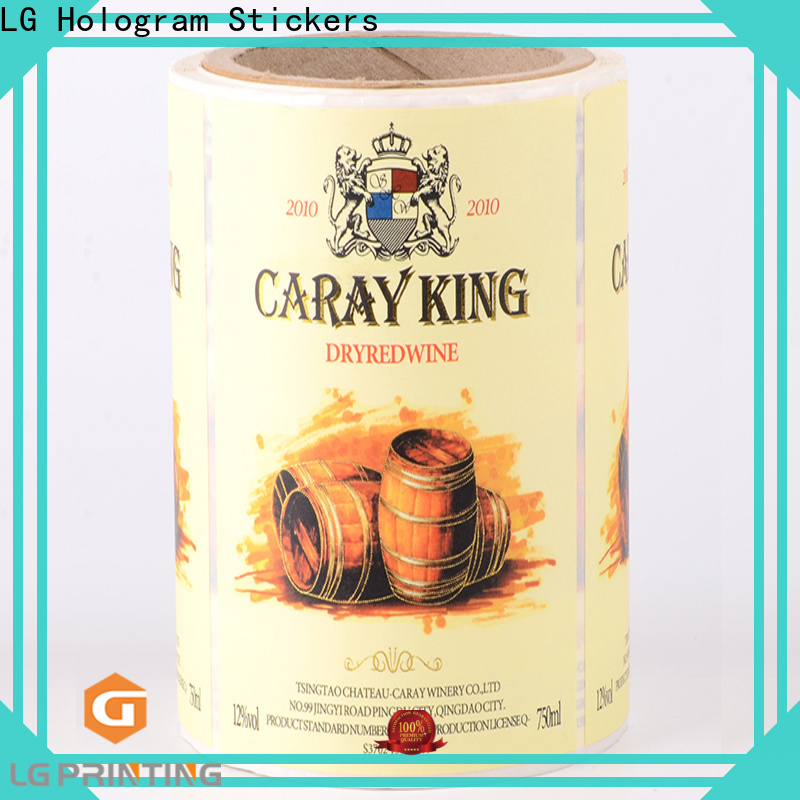 Professional self adhesive label paper pvc cost for cans