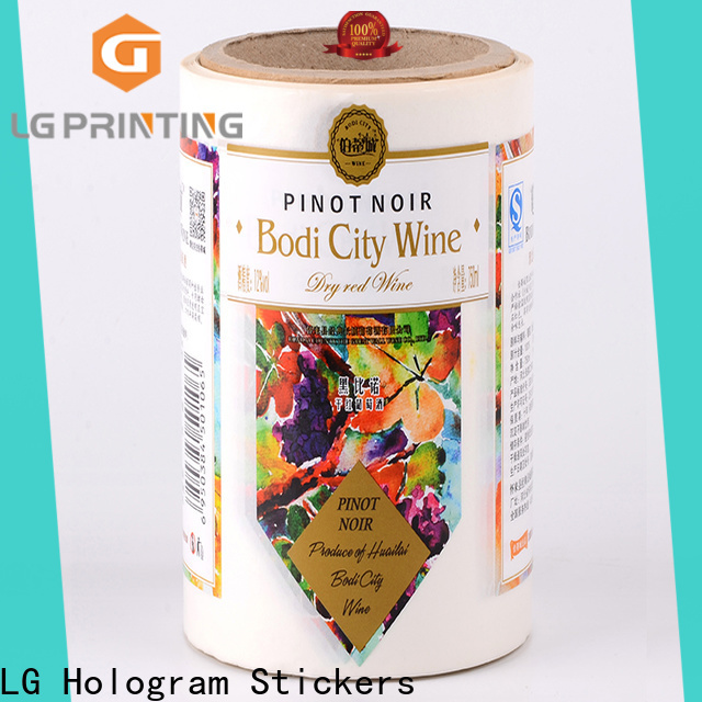Custom made label company pvc factory price for wine bottle