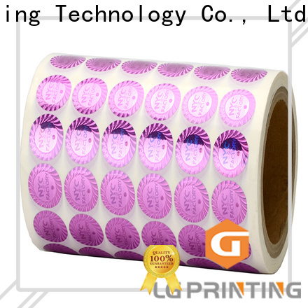 LG Printing retangle security hologram stickers company for garment hangtag