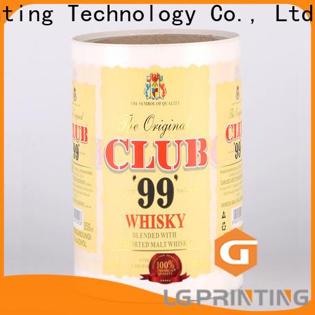 LG Printing Custom custom sticker printing price for jars