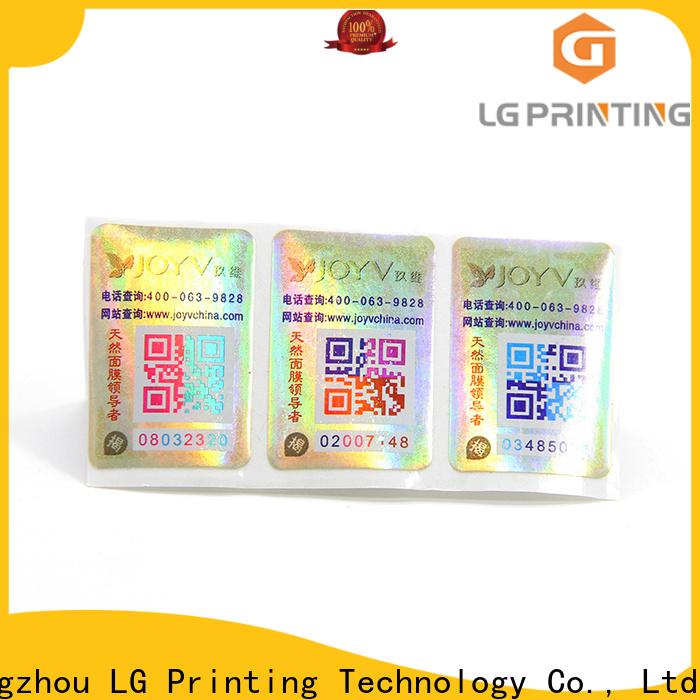 LG Printing Quality tamper labels factory for bottles