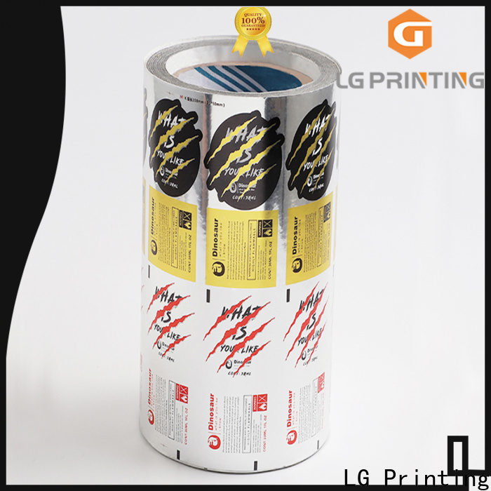 LG Printing Customized bottle label company supply for cans