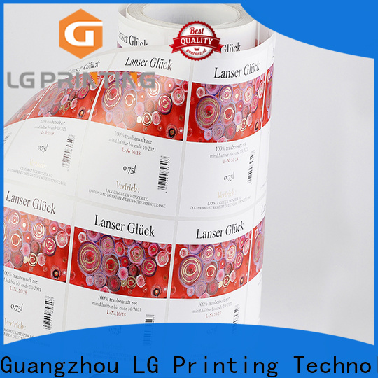 LG Printing gold sticker labels for bottles cost for cans