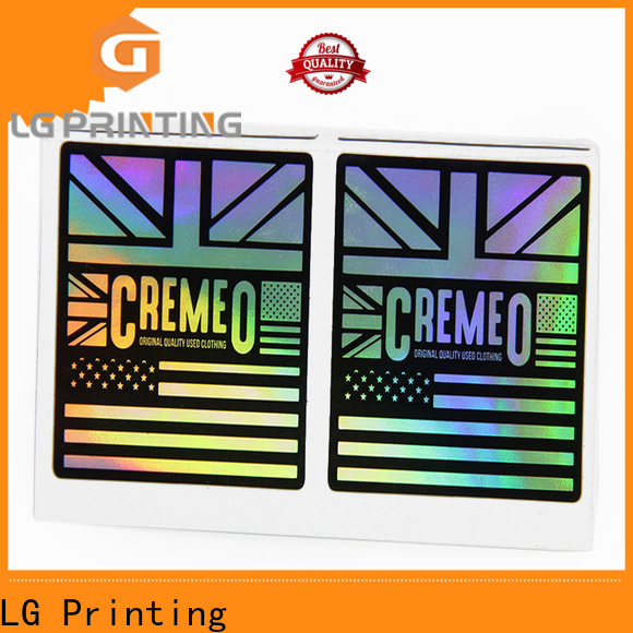 LG Printing Quality holographic stickers crafts company for package