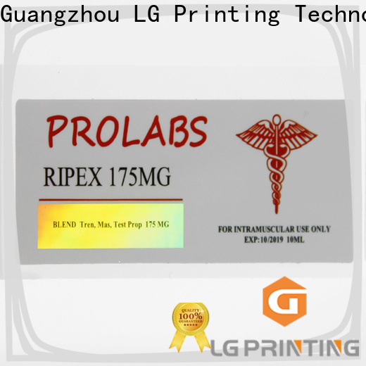 LG Printing Quality custom holographic decals wholesale for bottle package