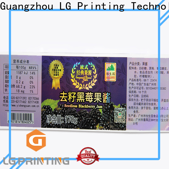 LG Printing custom holographic stickers vendor for plastic box surface
