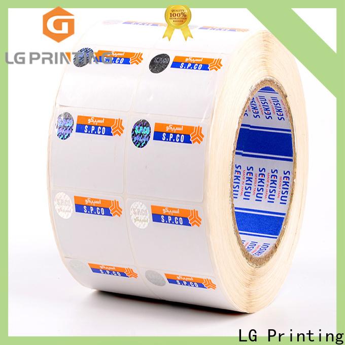 LG Printing foil hologram label wholesale for bag