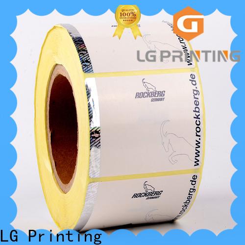 LG Printing Bulk buy custom size sticker labels price for box